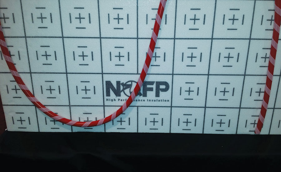 Under concrete radiant floor insulation from NOFP