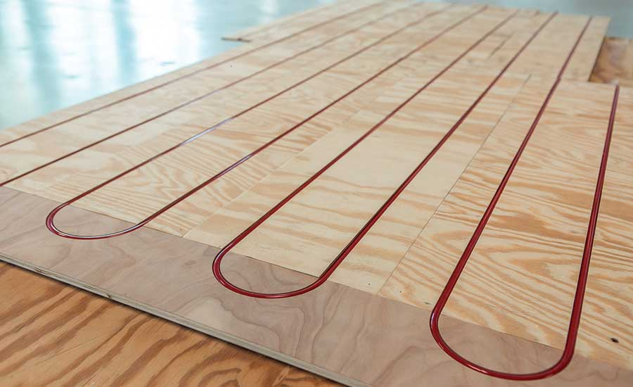 Radiant heating panel from REHAU