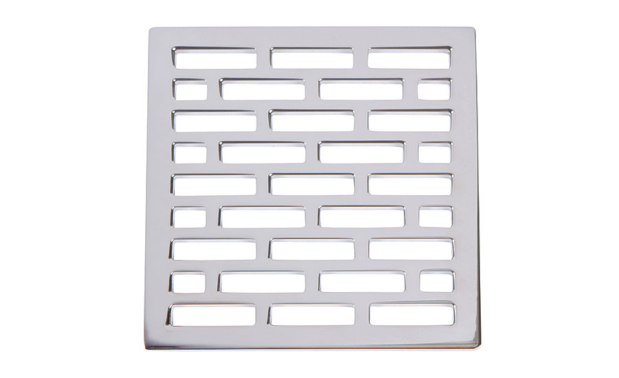 Square shower drains from Brasstech