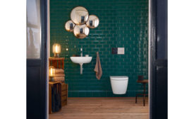 Wall-hung toilets, such as the Duravit SensoWash Strack pictured
