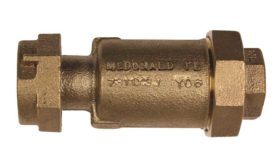 Slimmer inline dual check valve from A.Y. McDonald