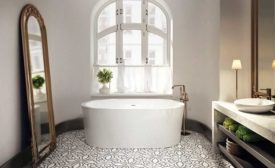 Oval-shaped freestanding tub from BainUltra