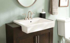 Semi-recessed sink from Gerber