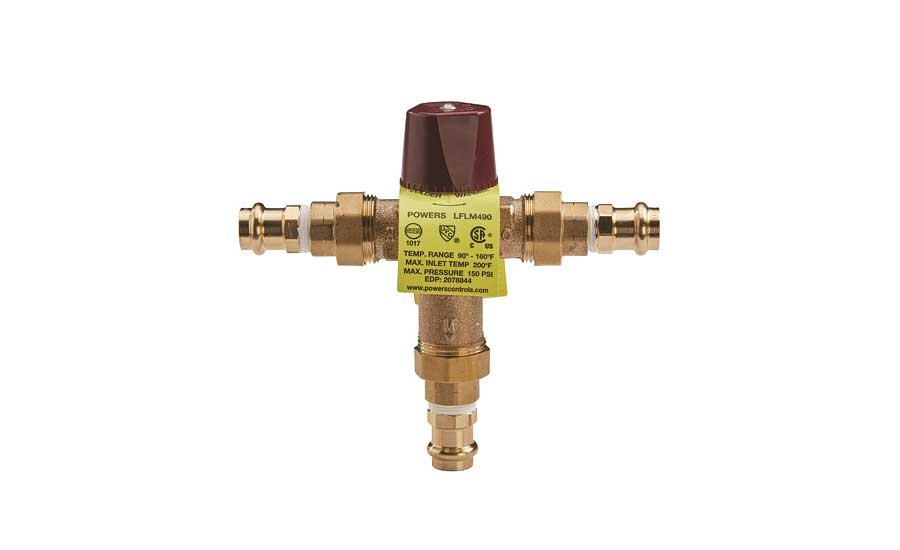 Press connections for select mixing valves from Powers