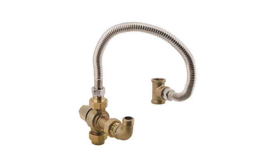 Mixing valve extends hot water tank capacity from Watts