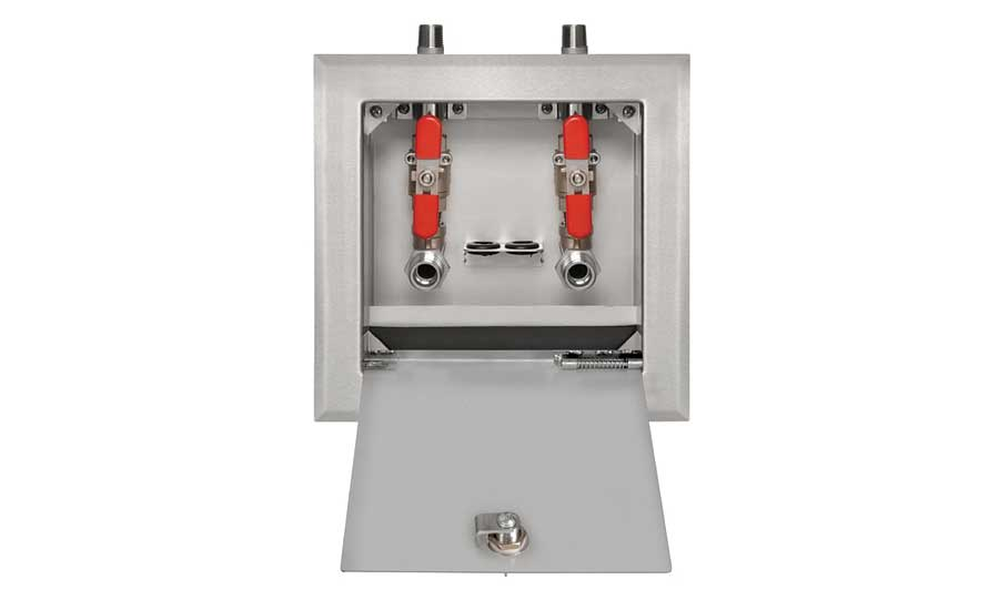 Stainless steel valves in dialysis boxes from IPS Corp.