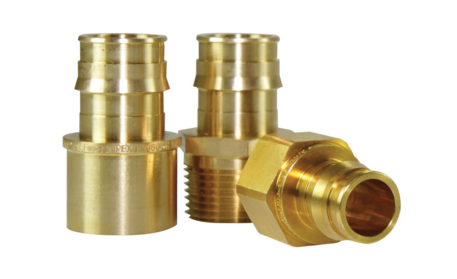 Brass transition fittings from Uponor (2017 AHR Expo Preview)