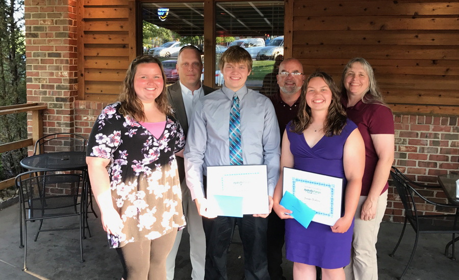 The Fishburn family of Plymouth, Indiana with Taco Scholarship winners