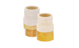 Lead-free CPVC brass adapter fittings from Matco-Norca