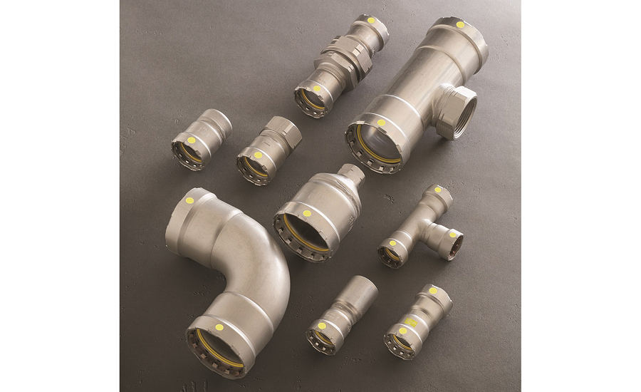 Press fittings for IPS stainless steel from Viega