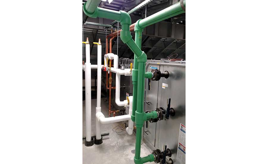 The Aquatherm Green Pipe was connected to Daikin chillers