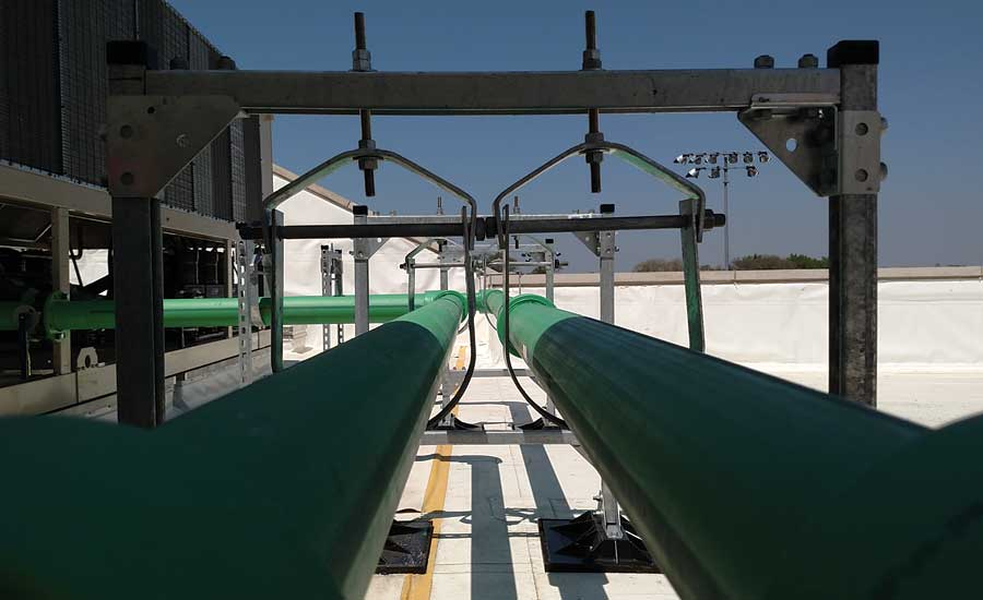 The system has Aquatherm Green Pipe