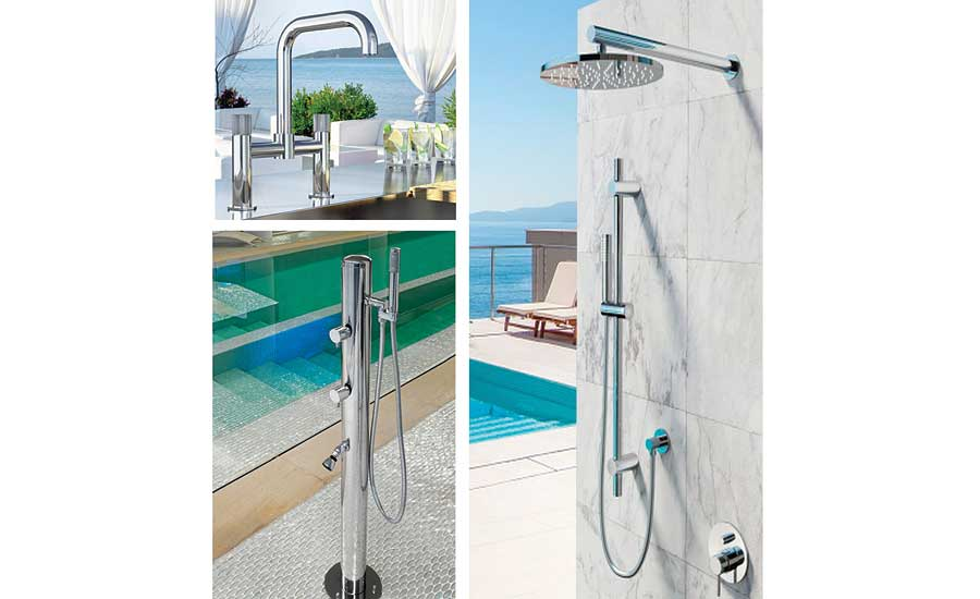 Marine grade stainless steel shower from Outdoor Shower