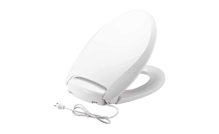 Heated and night light toilet seat from Bemis