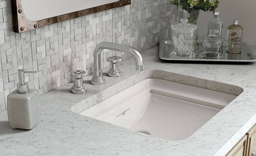 U-spout lavatory faucet from ROHL