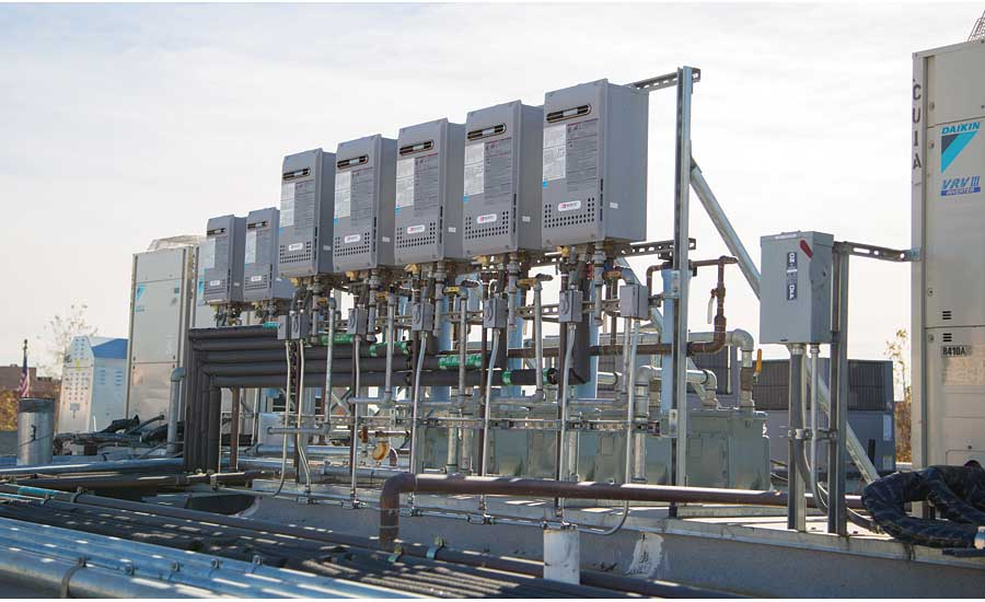 The Noritz units feature thermal efficiencies of 84%