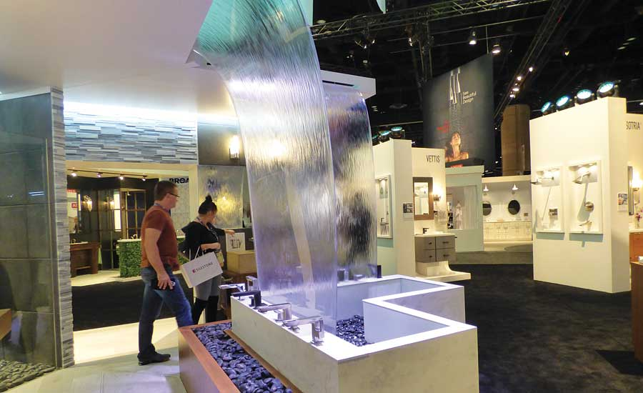 The Brizo booth was one of the 1,500 in the 2017 KBIS exhibit halls in Orlando, Fla