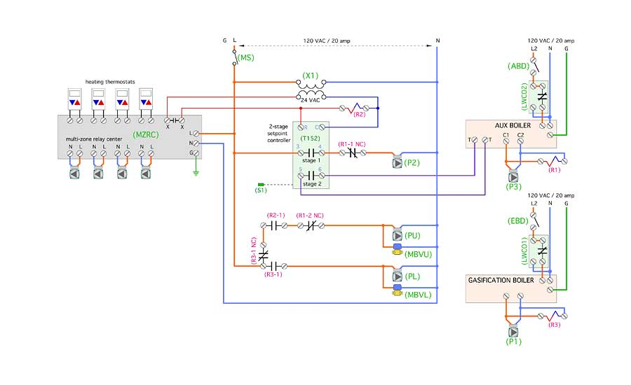 An electrical schematic that could be used with this system