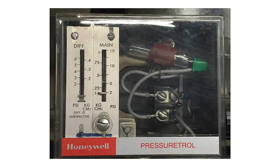A subtractive-style pressure control for a low pressure steam boiler is shown above