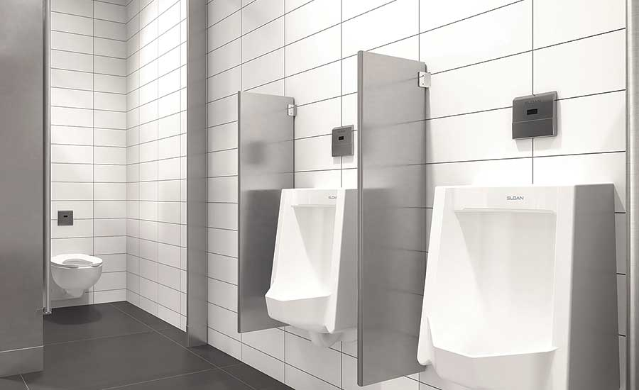 """Invisible"" flushometers are a growing trend, according to Sloan"