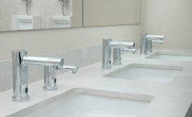 Below-deck lavatory faucet from Moen