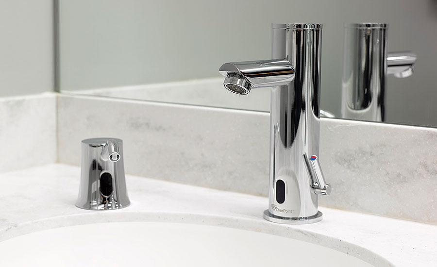 Hands-free sensor faucet from T&S Brass