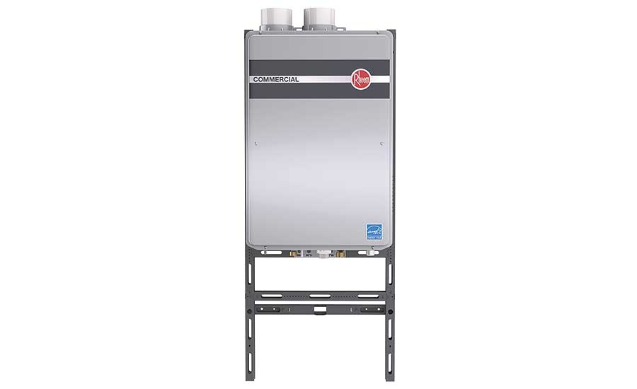 Flexible tankless water heating system from Rheem