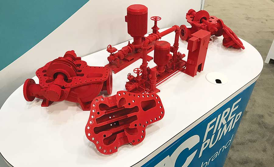 Xylem and its A-C Fire Pump brand displayed 3D-printed prototypes of potential pumps