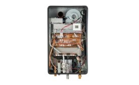 Condensing tankless water heater from Bosch