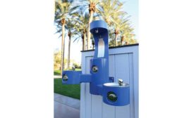Outdoor drinking fountain from Elkay