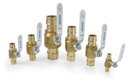 Brass transition fittings from Uponor