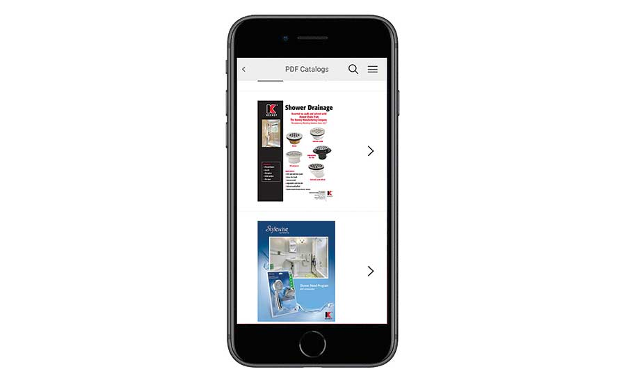 Mobile catalog app from Keeney