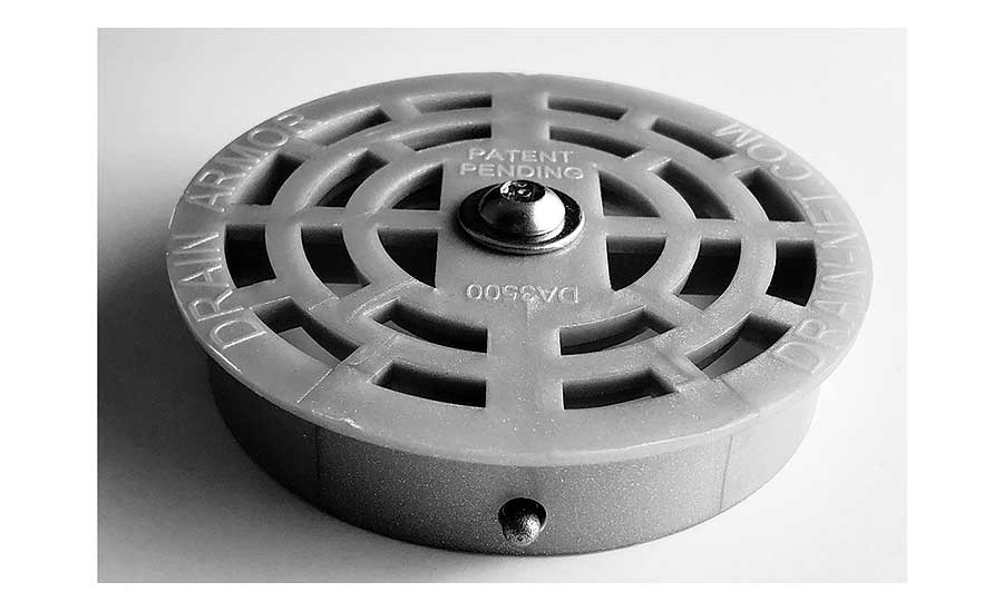 Compartment sink locking strainer from Drain-Net Technologies