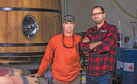 Monday Night Brewery cofounder Joel Iverson (right) and David Hardegree