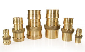 Copper press adapters from Uponor