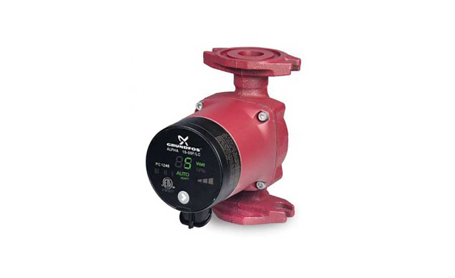 Hot water recirc pump from Grundfos