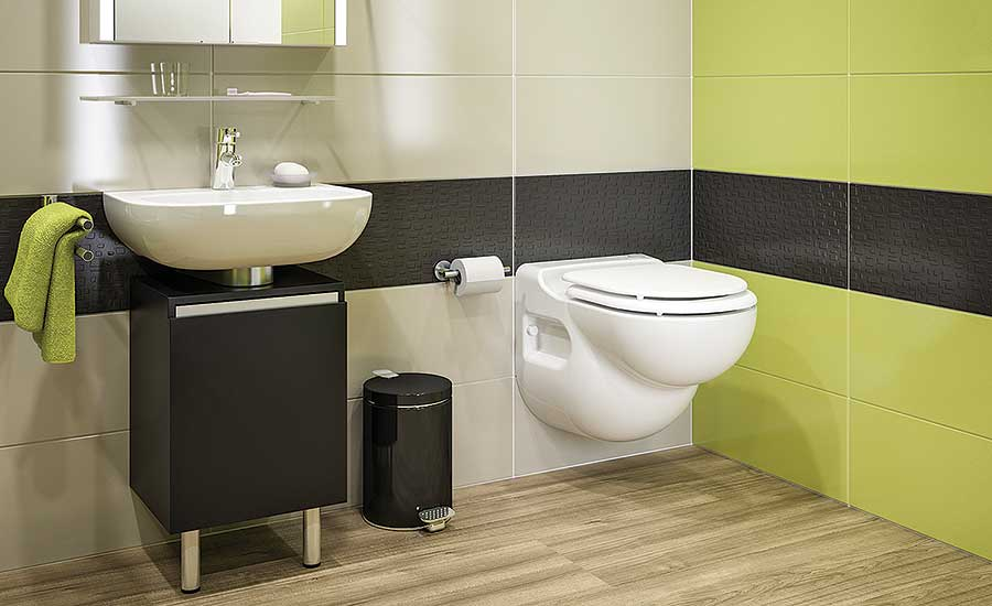 Macerating toilet system from Saniflo