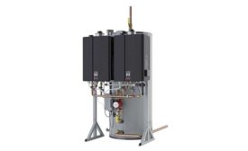 Hybrid water heating system from Rinnai