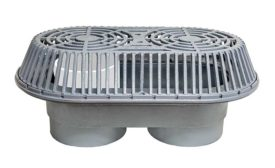 Roof drain for heavy water flow