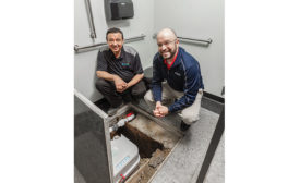 Ferguson avoids costly plumbing gut with grinder pump