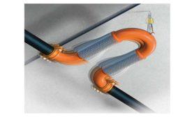 Metraflex Fireloop Seismic expansion joint for fire sprinkler systems