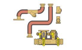 Near boiler piping kit