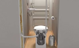 New compact macerating toilet from Saniflo.