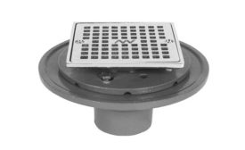 New cast-iron shower drain from Matco-Norca.