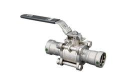 Viega three-piece ball valve