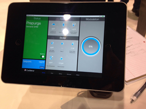 Lochinvar showcased its CON-X-US app for tablets and smartphones.