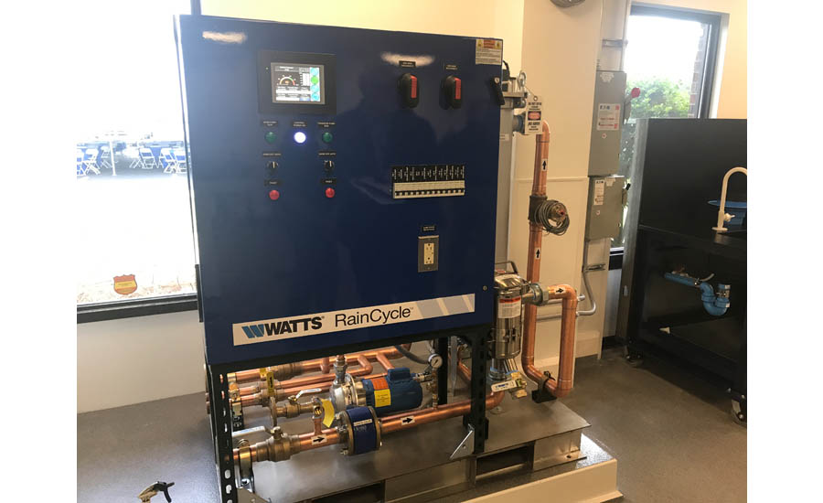 Watts' RainCycle system is one of many products on display