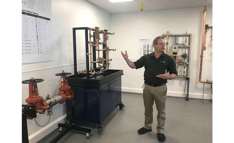 Watts' Mike Breault gives a product demonstration